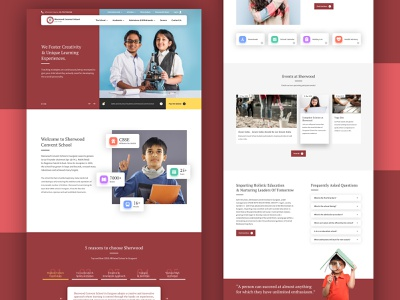 Sherwood Convent School web design education ux academics school ui homepage website