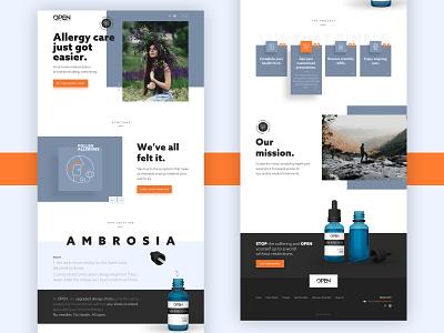 Open Laboratories - Allergy Care website redesign clean ui healthcare allergies allergy health landing page website