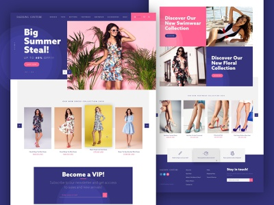 Dazzling Couture - Ecommerce website redesign shop fashion ui landing page website ecommerce