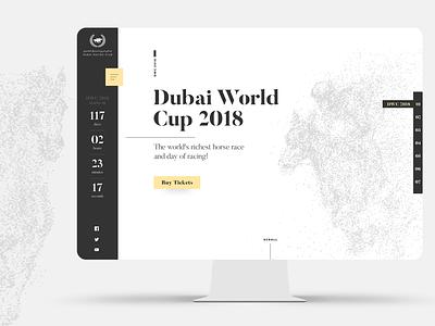 Dubai Racing Club homepage concept horse racing web site web design minimalistic clean