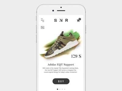 Slider animation slider slider animation mobile app sneakers