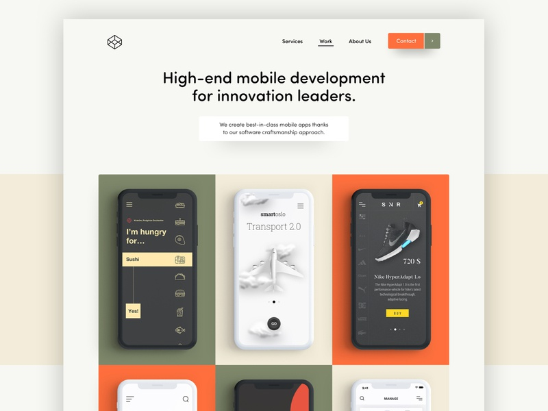 Mobile App Developer - landing page iphone x landing page mobile app website