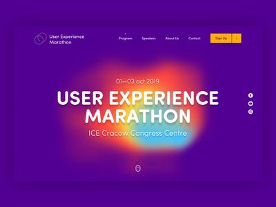 Hero exploration for UX marathon animation ux website landing page