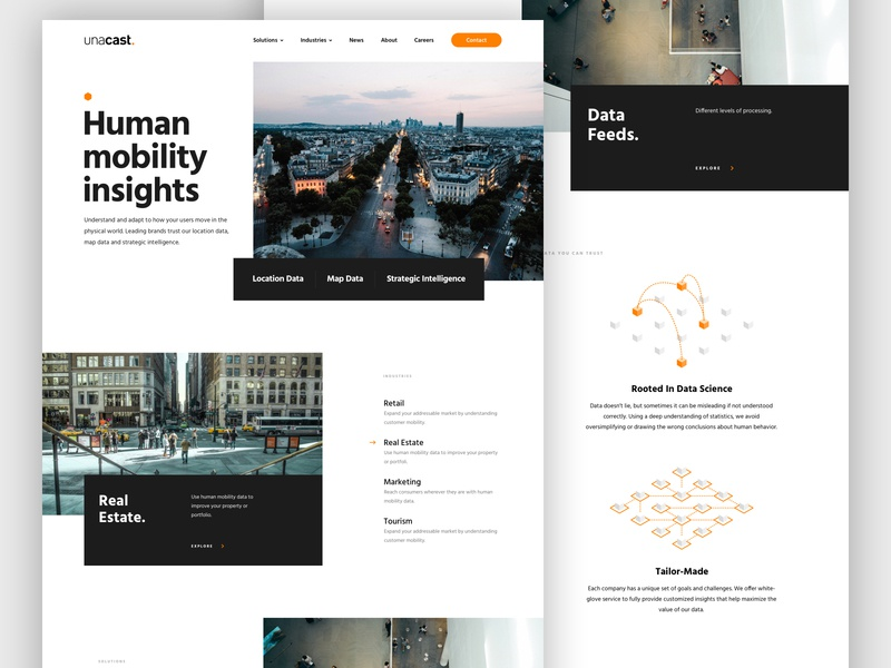 Unacast -  website redesign! web design webdesign website clean data ui ux landing page landingpage