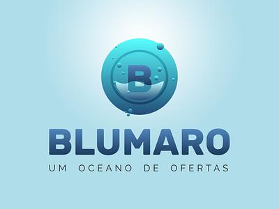 Logo Design - Blumaro logo design logo bubbles aquarium underwater green blue sea blumaro