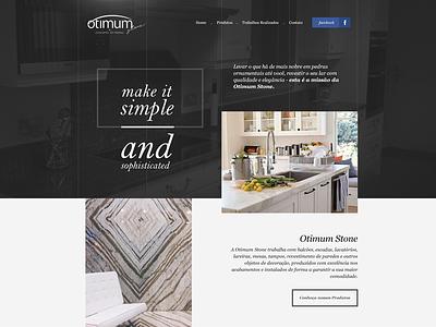 Otimum Stone - Web Design otimum asymmetry contrast dark webdesign