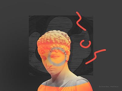 Sculpture graphic design design artwork orange sculpture dark