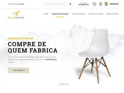 Ecommerce shot ecommerce chairs white clean
