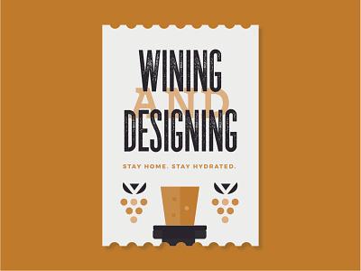 Wining & Designing sticker design wine