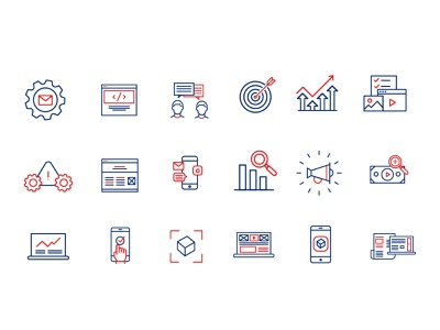 Agency Iconography illustration monoline agency iconography