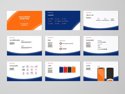 Fahlgren Mortine Brand Refresh arch agency branding and identity brand guidelines branding