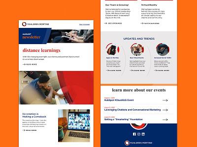 Agency Newsletter refresh branding arch ux email newsletter design newsletter agency