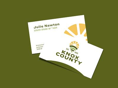 Knox County Brand Refresh knox county ohio knox logo business card