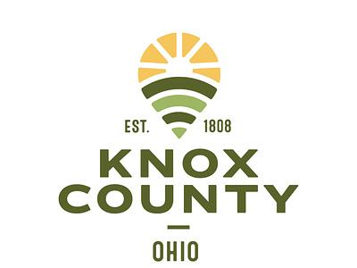 Knox County, Ohio logo refresh logo ohio knox county you are here pin pindrop illustration