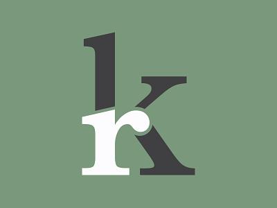 Updated Personal Logo identity branding branding portfolio personal identity identity k logo minimal kr r k monogram logo