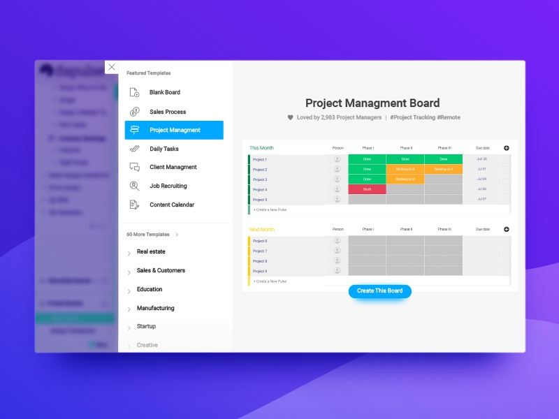 Onboarding Board Templates Wip By Monday Com Dribbble Dribbble