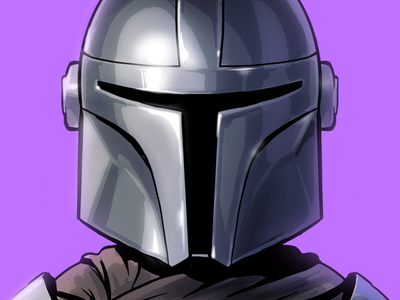 This is the Way commissioned caricature fan art star wars mandalorian