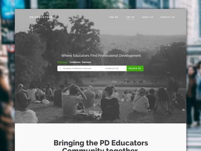PD Educators Website Concept