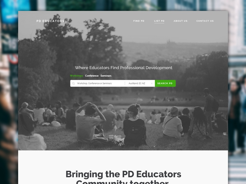 PD Educators Website Concept website concept interface webdesign