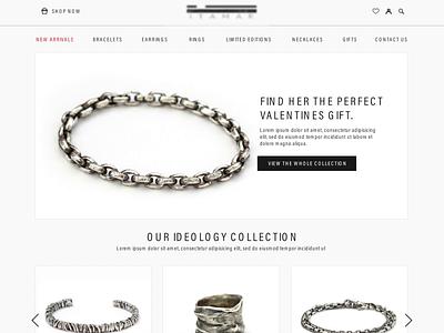 Jewellery Studio Website ui design artdirection web design webdesign graphic design interface website jewelry