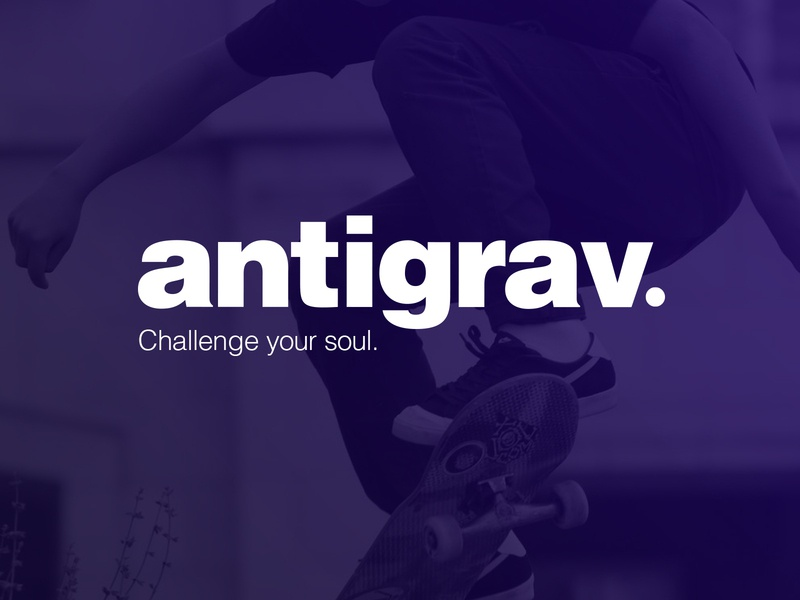 Antigrav® logo concept artdirection brand and identity design logo