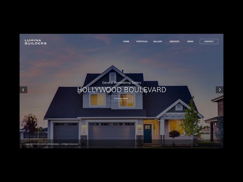 Lumina Builders Home Screen artdirection web design interface graphic design webdesign website