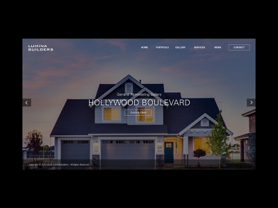 Lumina Builders Home Screen artdirection web design interface graphic design webdesign website