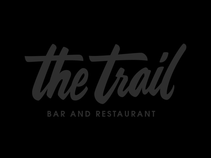 The Trail Bar and Resto artdirection vector brand and identity logo