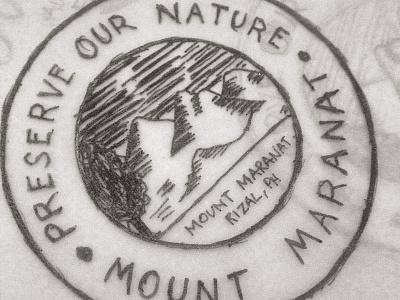 Hat Badge for Maranat Outdoors brand development logo brand and identity vector web design graphic design