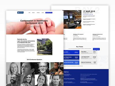 Faculty of Health Medical Science Event web design design webdesign website interface