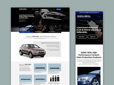 DURA-SEAL Website sketch photoshop ui interface web design website graphic design