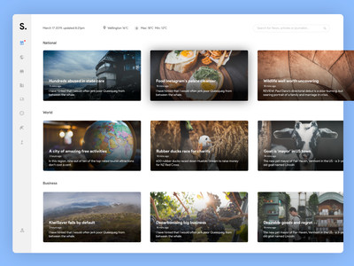 News Feed Concept photoshop sketch design ui web design website interface