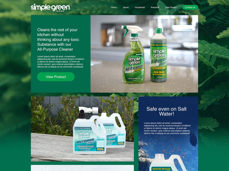 Simple Green NZ Website Concept photoshop sketch interface design ui artdirection webdesign web design website