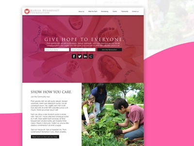 A website project for a charity