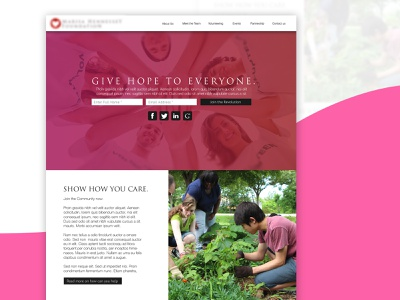 A website project for a charity sketch 2 photoshop sketch interface website brand and identity graphic design web design ui