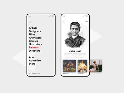 Filipino Artist collective / directory app concept concept collections new zealand designer filipino designer user interface ui web design interface