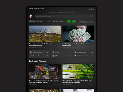 News Subscription Concept photoshop madeinsketch sketch interface design concept concept app ui interface
