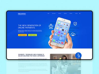 Interface design for an online payment firm