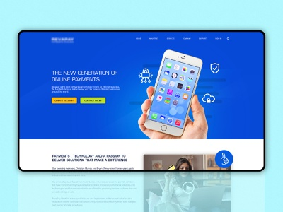 Interface design for an online payment firm photoshop branding sketch webdesign graphic design interface website web design