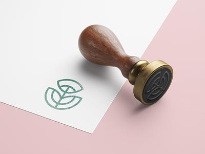 Rubber stamp logo illustration branding logo design
