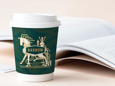 Barrow Coffee Roasters Cup Design art direction coffee cup illustraion identity design branding