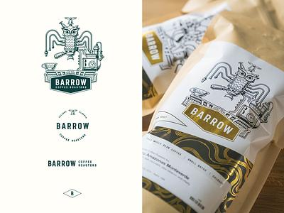 Barrow Coffee Roasters Branding coffee bag illustraion logo design identity design branding