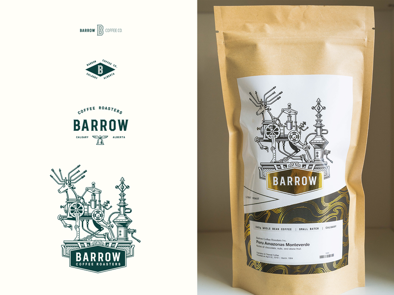 Barrow Coffee Roasters Branding coffee shop illustration logo design identity design branding