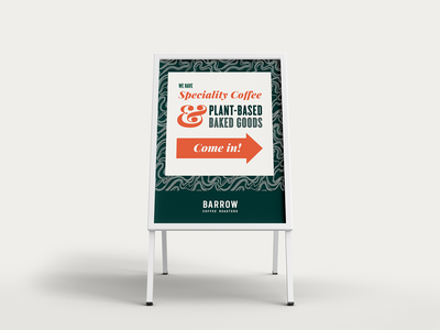 Barrow Coffee Roasters Sandwich Board typogaphy graphic design branding