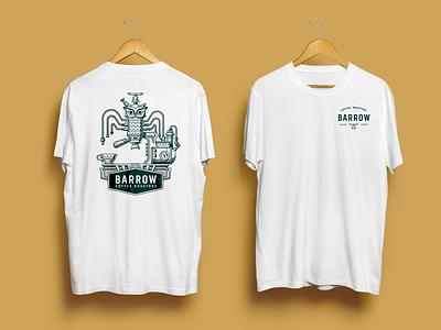 Barrow Coffee Roasters Branding silkscreen merchandise illustraion logo design identity design branding