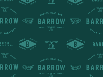 Barrow Coffee Roasters support assets illustraion logos identity design branding