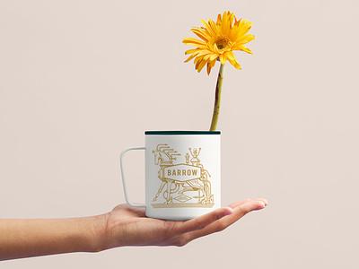 Barrow Coffee Cup logo design illustraion identity design branding