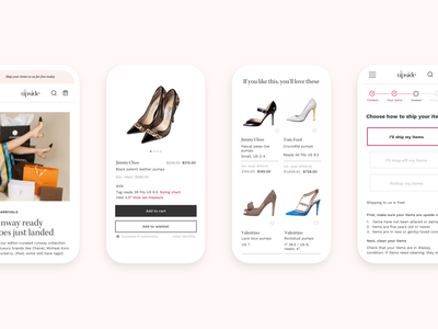 Responsive web design for The Upside ecommerce consignor portal responsive web design