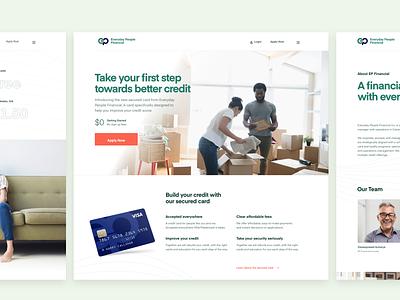 Marketing web design for EP Financial Inc. fintech finance responsive design web design marketing site