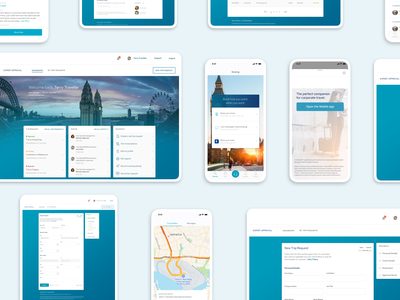 Product design for a business travel app mobile application itinerary travel app ios app design product design